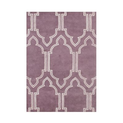 Andere Hand-Tufted Purple Area Rug Rug Size: 5' x 8'