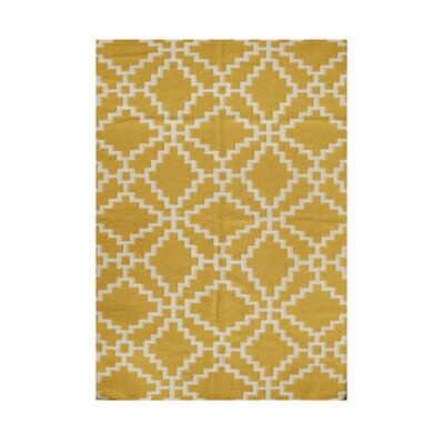 Rome Hand-Tufted Beige/Yellow Area Rug Rug Size: 5 x 8