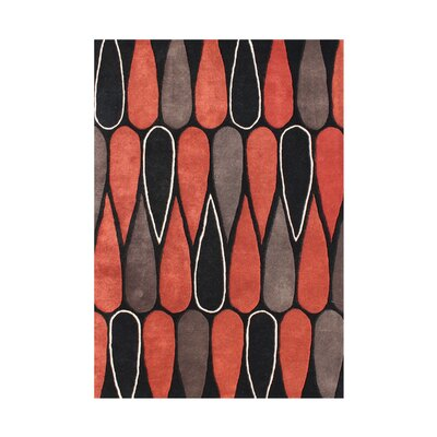 Ruch Hand-Tufted Red/Brown Area Rug
