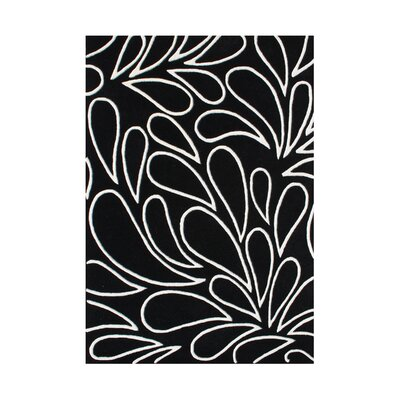 Redmond Hand-Tufted Black Area Rug