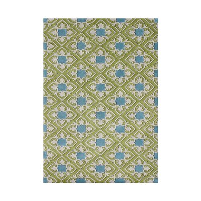 Richland Hand-Tufted Green/Blue Area Rug