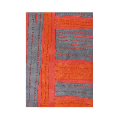 Rockaway Hand-Tufted Red/Gray Area Rug