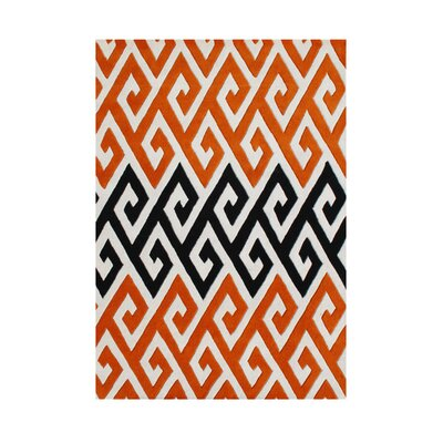 Rogue River Hand-Tufted Orange Area Rug