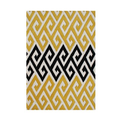 Roseburg Hand-Tufted Yellow Area Rug