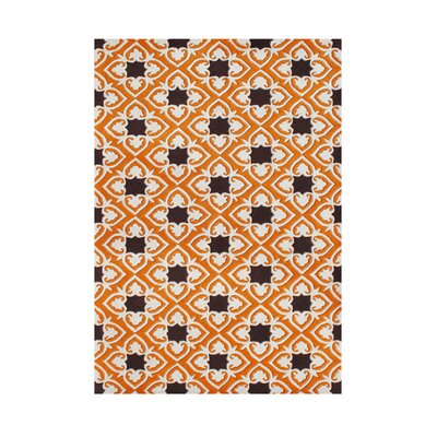 Rufus Hand-Tufted Orange/Black Area Rug