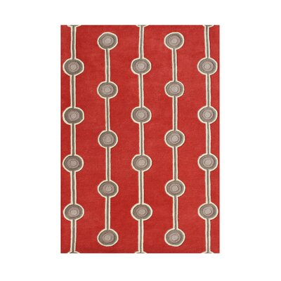Benedict Hand-Tufted Red/Gray Area Rug