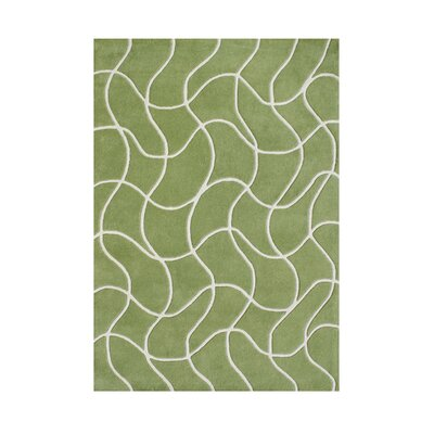 Salisbury Hand-Tufted Green Area Rug