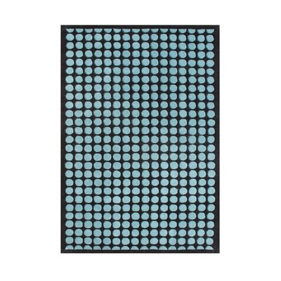 Sams Hand-Tufted Blue/Black Area Rug