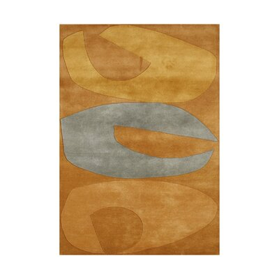 Shady Hand-Tufted Orange Area Rug