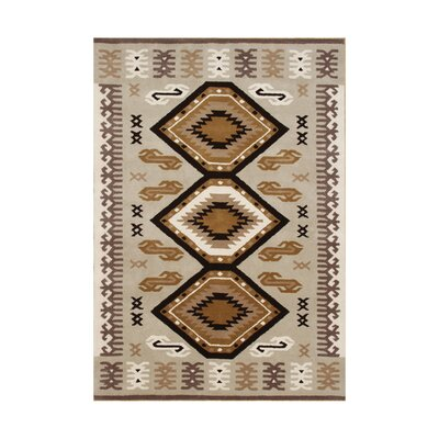 Siltcoos Hand-Tufted Taupe/Brown Area Rug Rug Size: 5 x 8