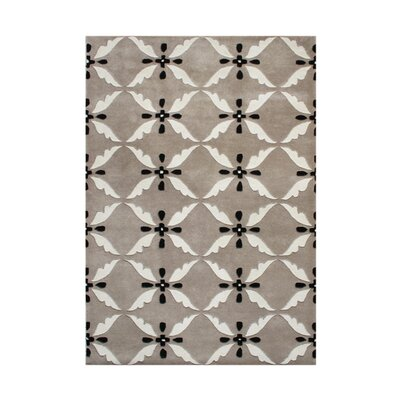 Sitkum Hand-Tufted Gray Area Rug Rug Size: Rectangle 5 x 8