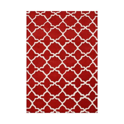 Sixes Hand-Tufted Red Area Rug Rug Size: 5 x 8