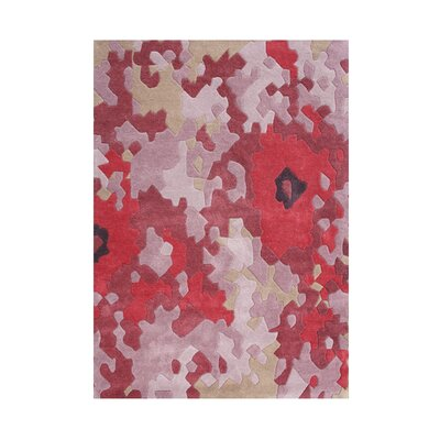 Springbrook Hand-Tufted Tomato Red Area Rug Rug Size: 5 x 8
