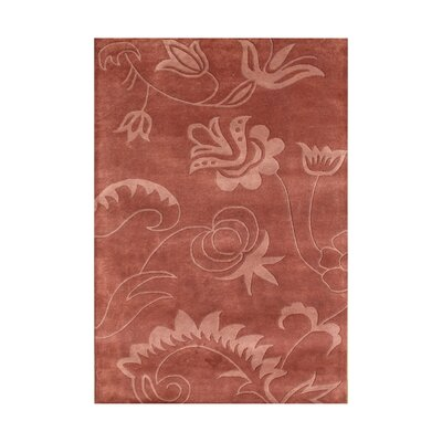 Starkey Hand-Tufted Rust Area Rug Rug Size: Rectangle 5 x 8