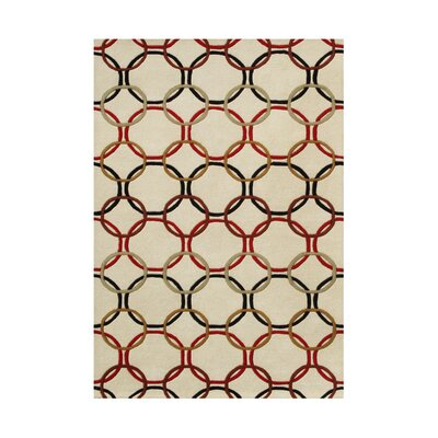 Suver Hand-Tufted Ivory Area Rug Rug Size: Rectangle 5 x 8