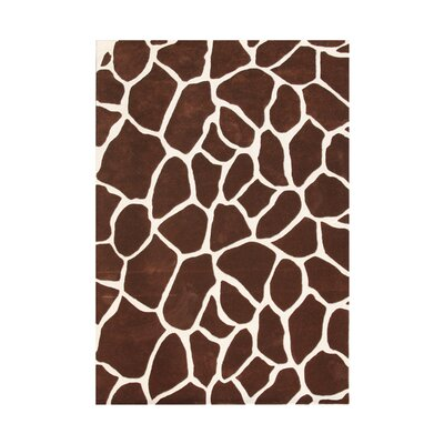 Swisshome Hand-Tufted Brown Area Rug Rug Size: 5 x 8
