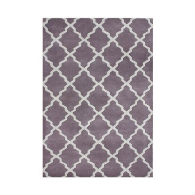 Sandy Hand-Tufted Purple Area Rug Rug Size: Rectangle 5 x 8