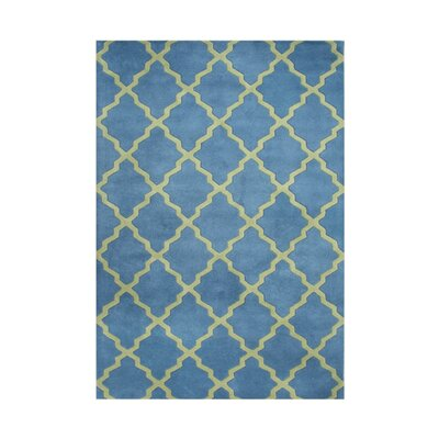 Scappoose Hand-Tufted Blue Area Rug Rug Size: 5 x 8