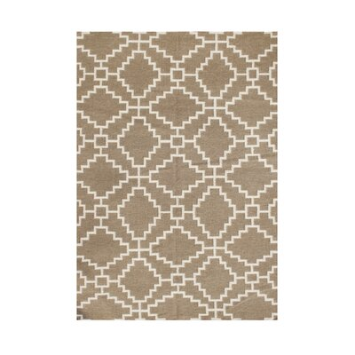 Scotts Hand-Tufted Brown/White Area Rug Rug Size: 5 x 8