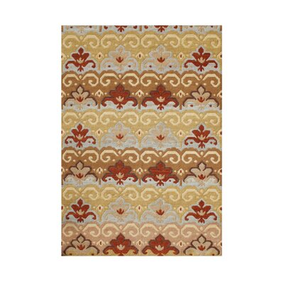 Seneca Hand-Tufted Tan/Red Area Rug Rug Size: Rectangle 5 x 8