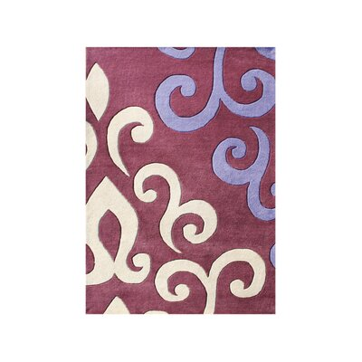 Shaniko Hand-Tufted Purple/Ivory Area Rug Rug Size: Rectangle 9 x 12