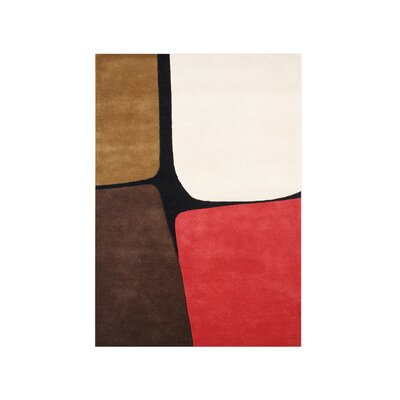 Tillamook Hand-Tufted Brown/Red Area Rug Rug Size: Rectangle 9 x 12
