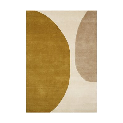 Troutdale Hand-Tufted Ivory/Green Area Rug Rug Size: 9 x 12