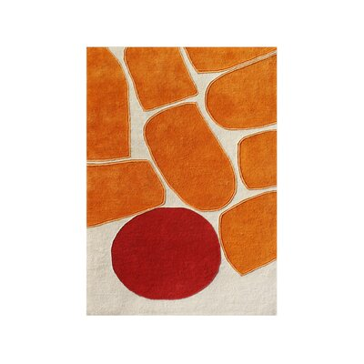 Tualatin Hand-Tufted Orrange Area Rug Rug Size: Rectangle 9 x 12