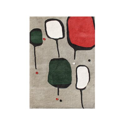Turner Hand-Tufted Gray Area Rug Rug Size: Rectangle 9 x 12