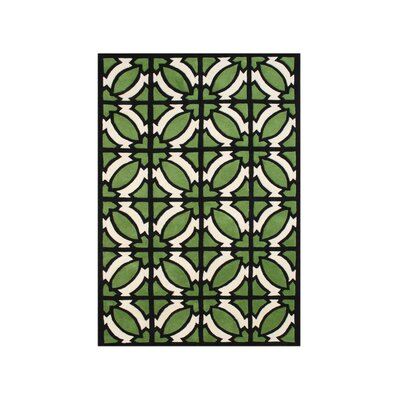 Umatilla Hand-Tufted Green Area Rug Rug Size: Rectangle 9 x 12