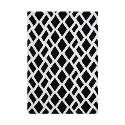 Venator Hand-Tufted Black/White Area Rug Rug Size: 5 x 8