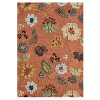 Verboort Hand-Tufted Rust Area Rug Rug Size: 8 x 10