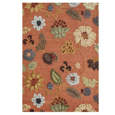 Verboort Hand-Tufted Rust Area Rug Rug Size: Rectangle 5 x 8