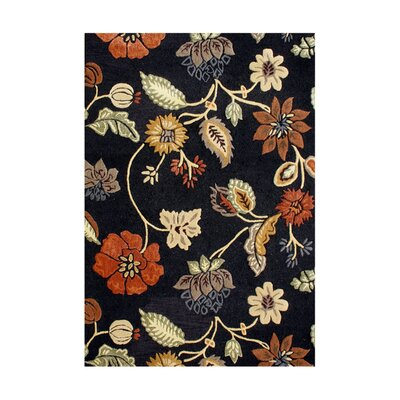 Vida Hand-Tufted Black Area Rug Rug Size: Rectangle 5 x 8