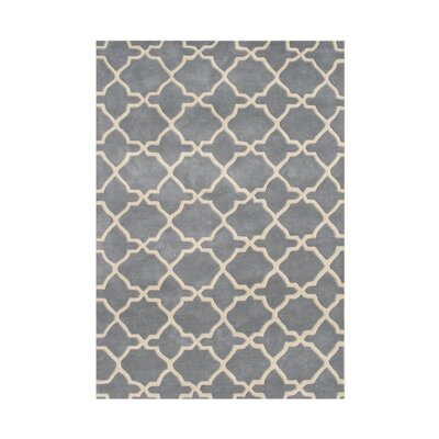 Vale Hand-Tufted Gray/Beige Area Rug Rug Size: 5 x 8