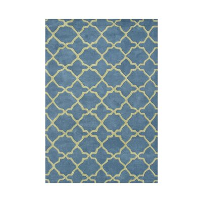Veneta Hand-Tufted Aqua/Lime Area Rug Rug Size: Rectangle 8 x 10