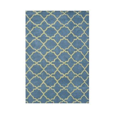 Veneta Hand-Tufted Aqua/Lime Area Rug Rug Size: 9 x 12