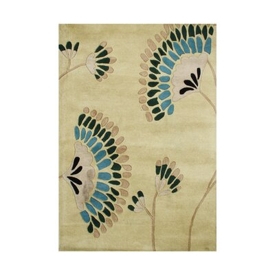 Wagontire Hand-Tufted Beige Area Rug Rug Size: Rectangle 5 x 8