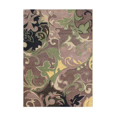 Walden Hand-Tufted Brown/Green Area Rug Rug Size: 5 x 8