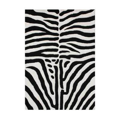 Walton Hand-Tufted Black/White Area Rug Rug Size: 5 x 8