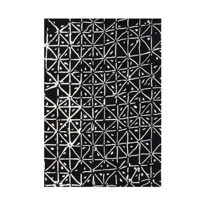 Wamic Hand-Tufted Black/White Area Rug Rug Size: 8 x 10