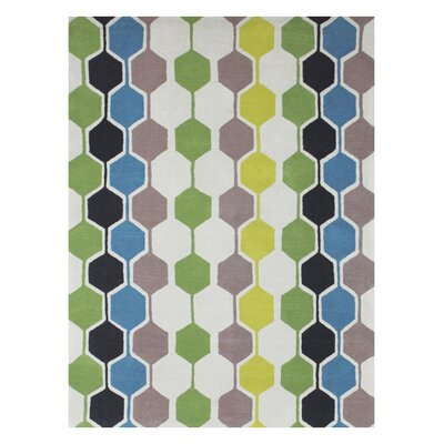 Wapinitia Hand-Tufted Area Rug Rug Size: Rectangle 5 x 8