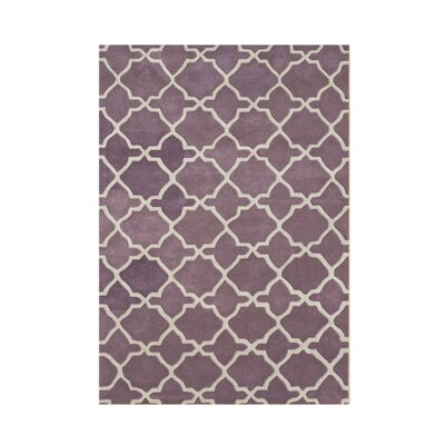 Wauna Hand-Tufted Purple/White Area Rug Rug Size: 5 x 8