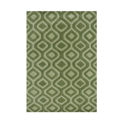 Weatherby Hand-Tufted Green Area Rug Rug Size: Rectangle 5 x 8