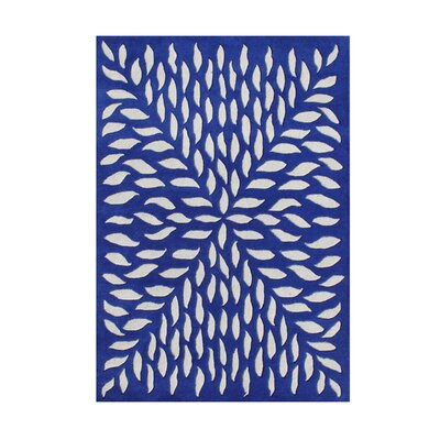 Wedderburn Hand-Tufted Blue Area Rug Rug Size: Rectangle 5 x 8