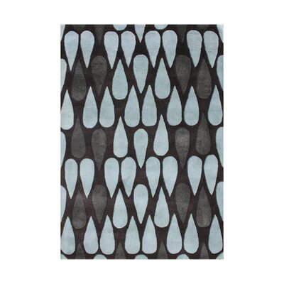 Wemme Hand-Tufted Charcoal/Blue Area Rug Rug Size: 5 x 8
