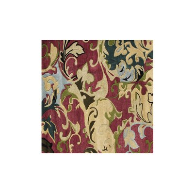 West Stayton Hand-Tufted Red/Yellow Area Rug Rug Size: Square 6