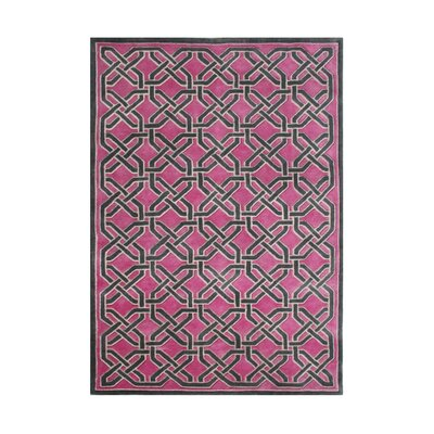 Westport Hand-Tufted Pink/Black Area Rug Rug Size: Rectangle 8 x 10