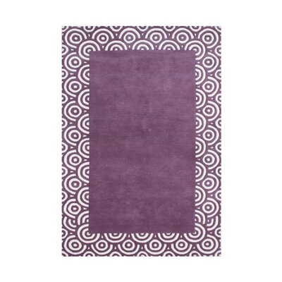 Wheatland Hand-Tufted Purple Area Rug Rug Size: 5 x 8