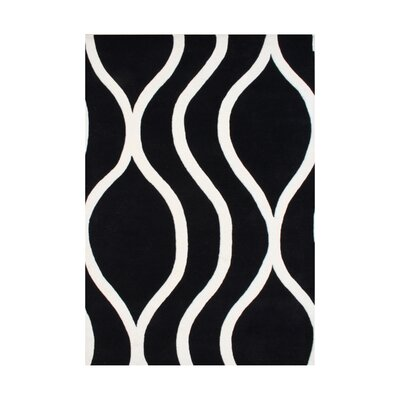 White City Hand-Tufted Black/White Area Rug Rug Size: 8 x 10